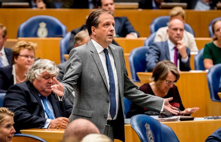 Alexander Pechtold (D66) reageert op premier Mark Rutte: 'U spreekt over verantwoordelijkheid nemen. Zo kan ik ook premiertje spelen!' Beeld ANP