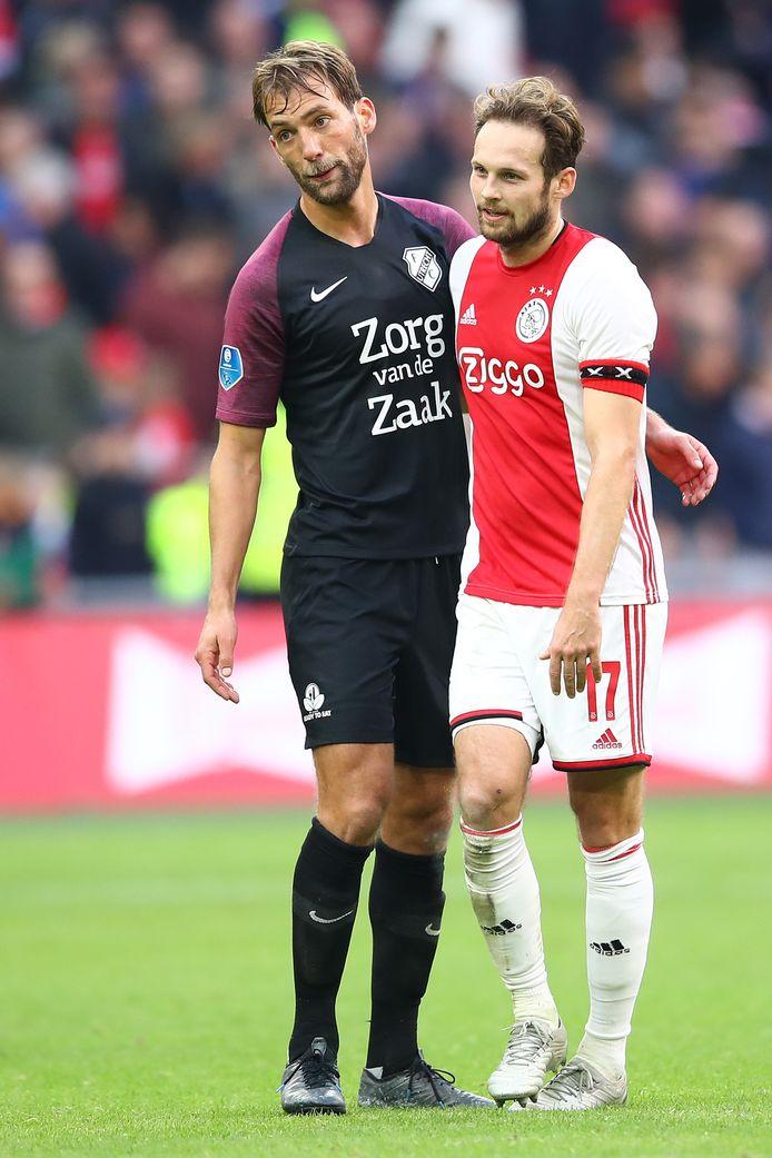 Willem Janssen met Daley Blind.