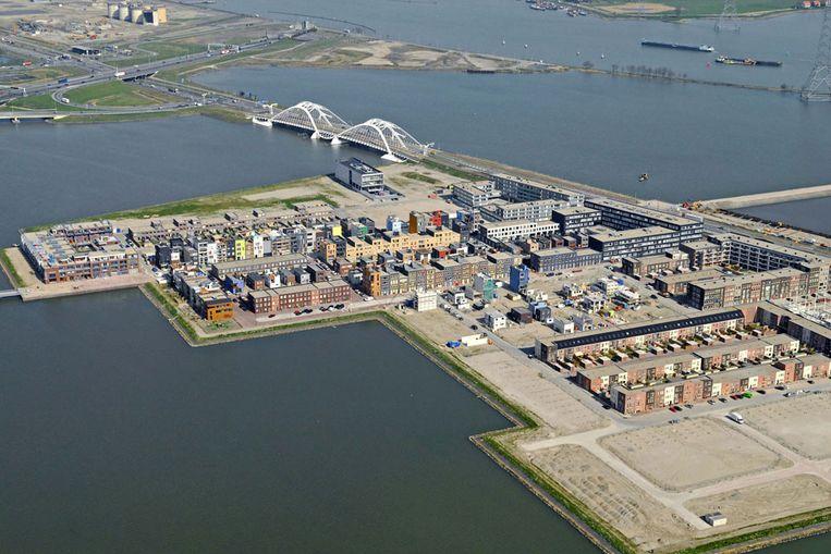 IJburg in aanbouw, voorjaar 2007. (Raymond Rutting / de Volkskrant) Beeld null