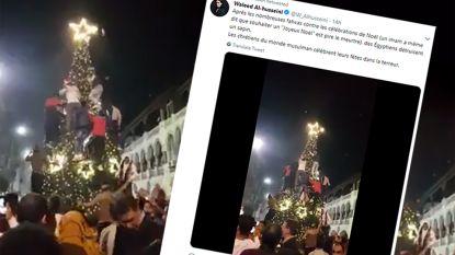 Hoax: nee, moslims proberen deze kerstboom niet te vernielen