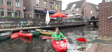 Opschudding over liggeld voor kano's in Almelose Aa