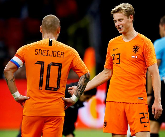 Sneijder en Frenkie de Jong.
