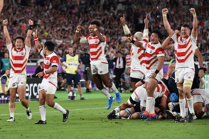 Gastland Japan zorgde voor een van de verrassingen door te winnen van Schotland.