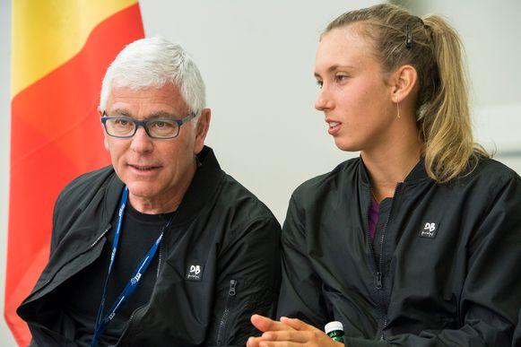 Kapitein Ivo Van Aken en Elise Mertens.