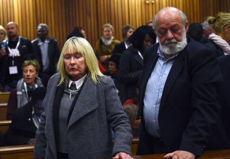 Moeder June en vader Barry, ouders van slachtoffer Reeva Steenkamp.