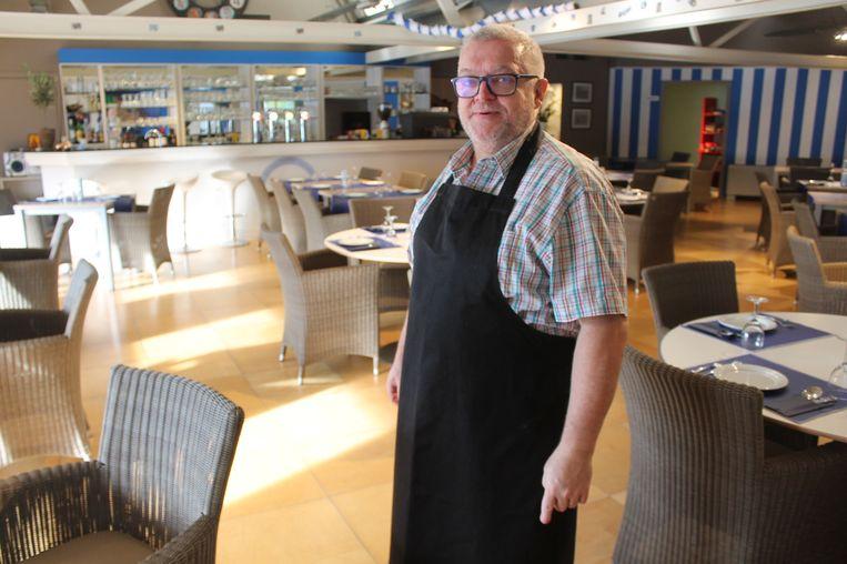 Chef Geert Buyl in zijn Grieks restaurant Kali Orexi.
