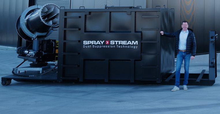 Zaakvoerder Mirko Savic, bij een Spraystream