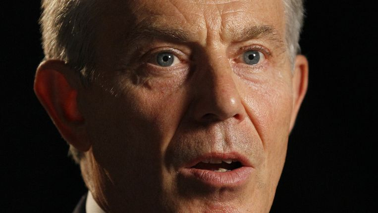Oud-premier Tony Blair. Beeld ap