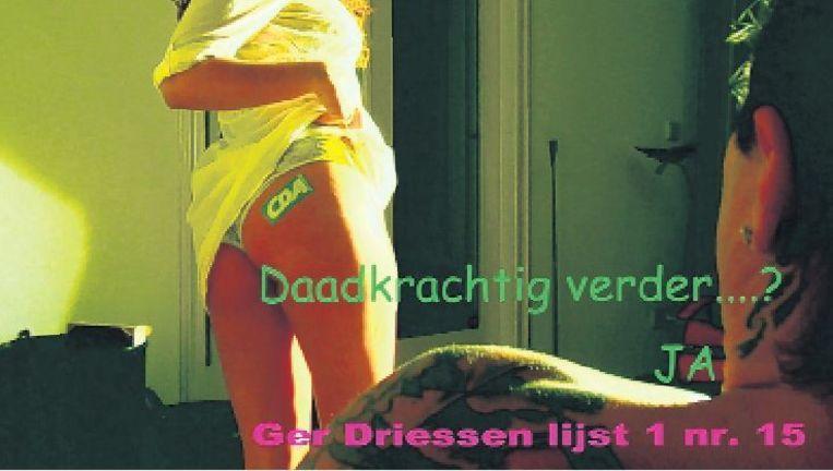 Still uit het CDA-campagnefilmpje 'de naakte waarheid', van Ger Driessen. (screenshot YouTube) Beeld