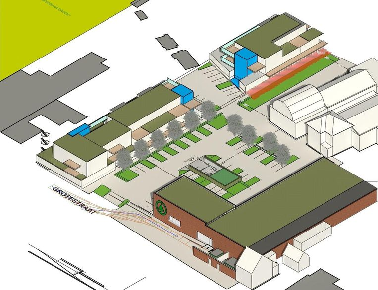 Naast de nieuwe Spar-supermarkt, komt er ook nog 1.600 vierkante meter aan commerciële ruimte voor winkels.