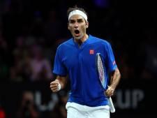 Federer zet Europa weer op voorsprong na kraker tegen Kyrgios