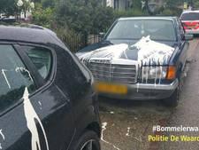 Auto's met verf besmeurd in Gameren