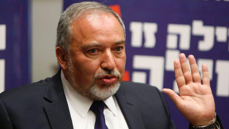 Avigdor Lieberman, de nieuwe minister van Defensie. Beeld afp