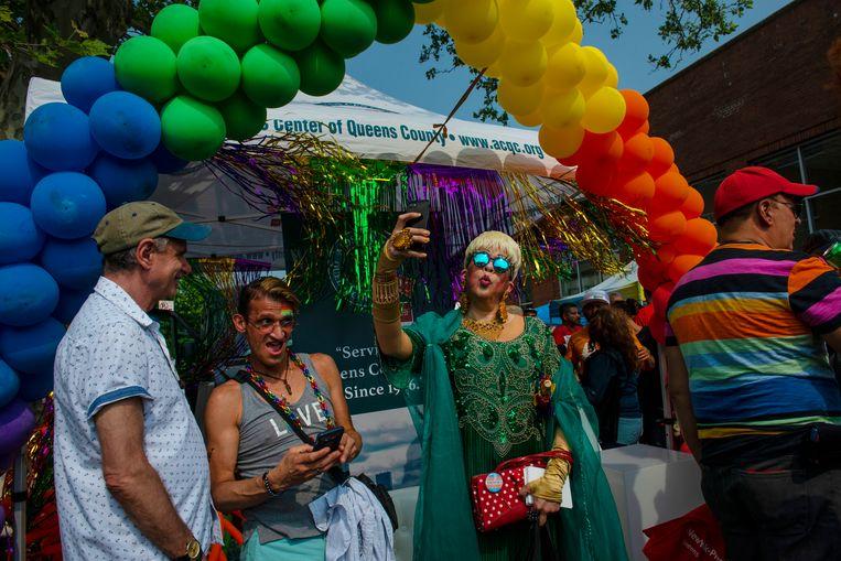 Queens Pride Day in Jackson Heights. Beeld Monique Jaques