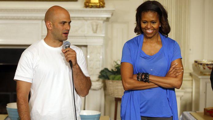 Sam Kass, le chef cuistot de la Maison Blanche, et Michelle Obama.