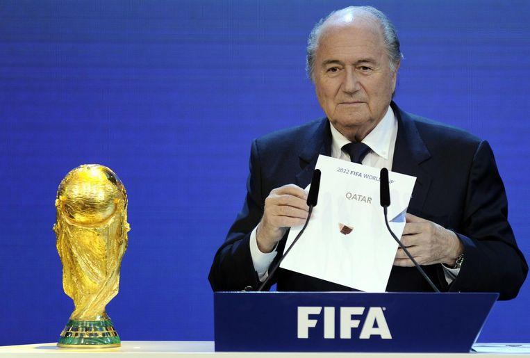 Voormalig FIFA-preses wijst het WK van 20122 toe aan Qatar Beeld null