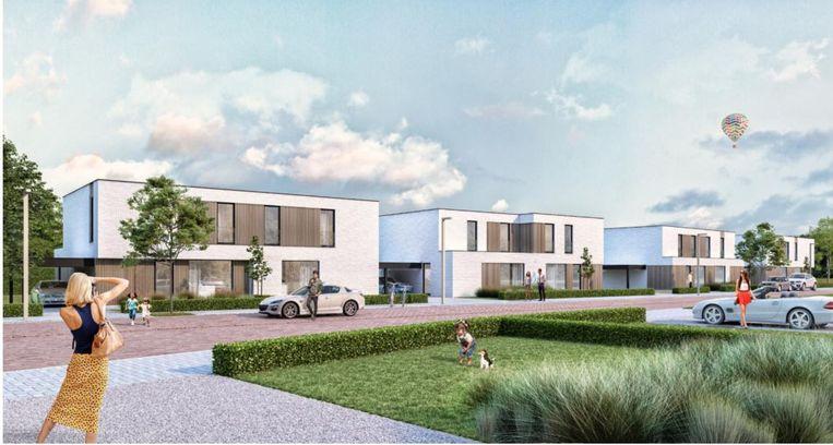 Een conceptbeeld van de nieuwe woonzone.