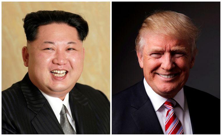 Kim Jong-un en Donald Trump uitten over en weer dreigende oorlogstaal.