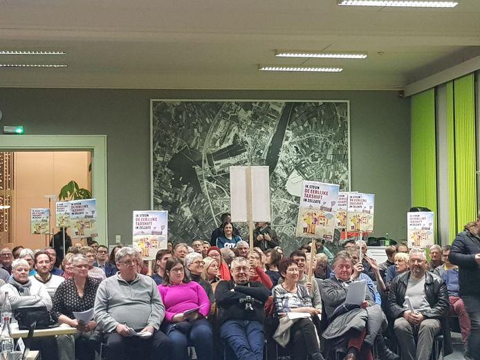 Veel voorstanders van de eerlijke taxshift zakten af naar de gemeenteraad.
