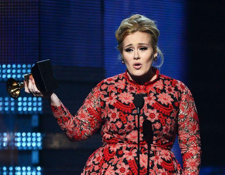 Adele kreeg in 2013 de Grammy voor beste solo-optreden voor 'Set Fire to the Rain'. Beeld afp