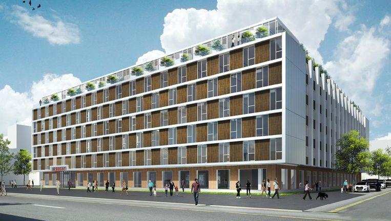 Het toekomstige complex in de Poeldijkstraat Beeld De Key