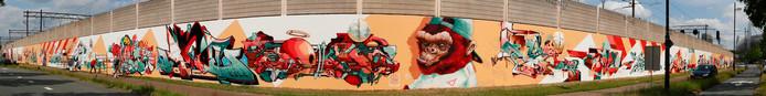 Panoramafoto grafitti PSVlaan Eindhoven