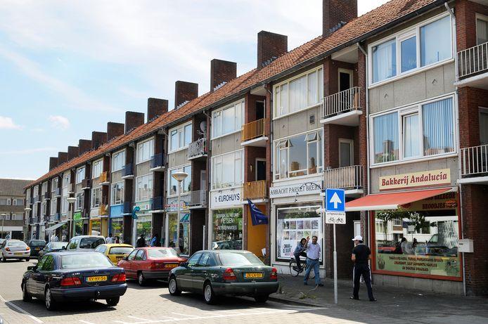 Het Edisonplein in Breda, waar de beruchte 'voetbalmoord' plaatsvond