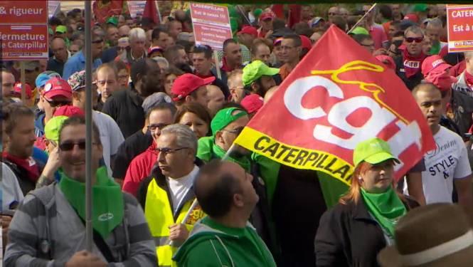 7.000 man op straat tegen sluiting Caterpillar