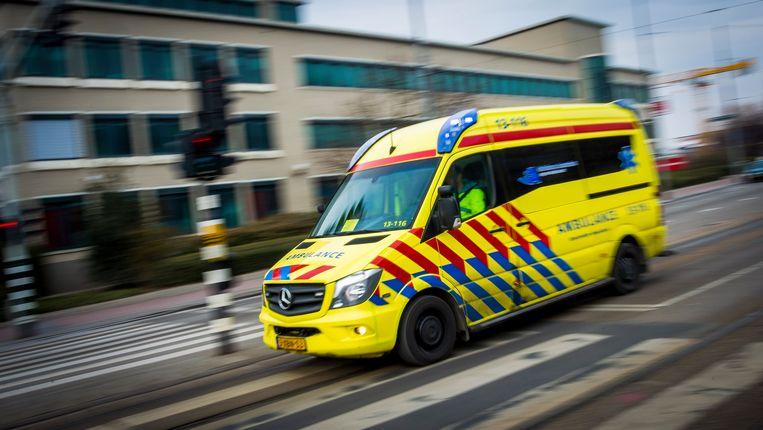 Ambulancevervoer in Amsterdam.  Beeld ANP