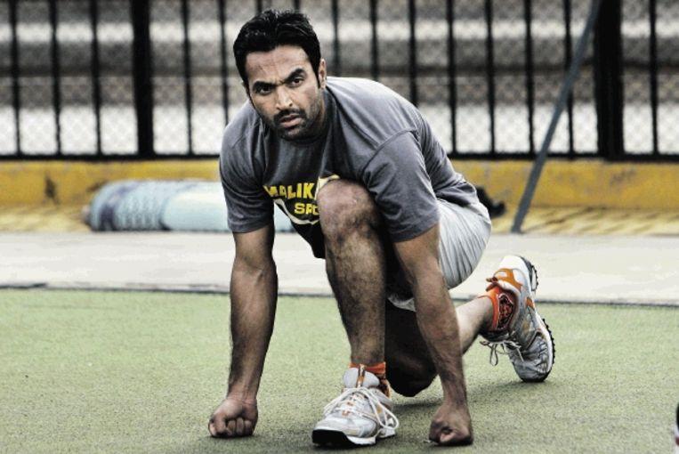 Strafschopspecialist Sohail Abbas is weer in genade aangenomen door de keuzeheren van het Pakistaanse hockeyteam. (FOTO AP) Beeld AP