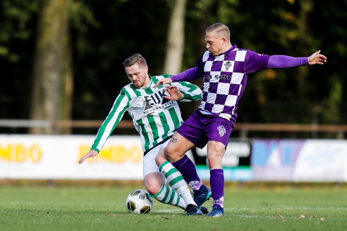 TVC Breda (paarse shirts) mag zich weer even de beste van Breda (in zondag 5B) noemen.