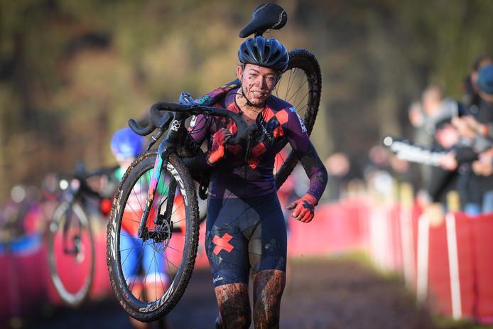 Sophie De Boetijdens de World Cup cyclocross in Zeven, Duitsland