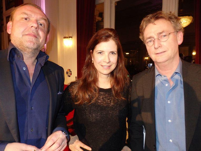 Interviewers Tom Kellerhuis (HP/De Tijd), Marcia Luyten (Buitenhof) en Tom Jan Meeus (NRC) (vlnr) bespraken de vraag: is het interview een vorm van waarheidsvinding? Beeld -