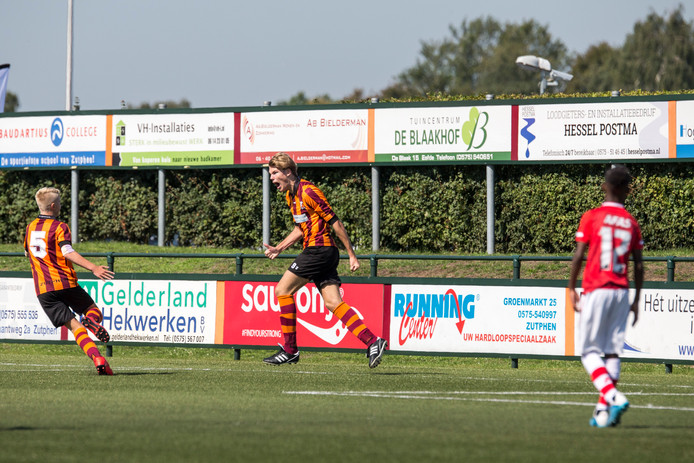 Jeugdspelers van FC Zutphen tijdens het internationale toernooi voor spelers onder 13 jaar. Afgelopen zomer op het sportcomplex van FC Zutphen.