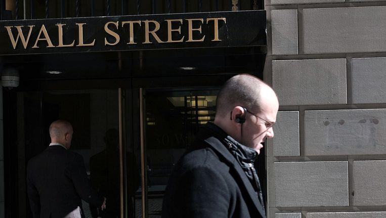 Wall Street, New York Beeld afp