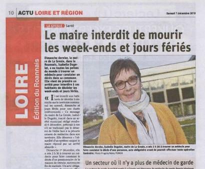 """""""Verboden te sterven in het weekend of op feestdagen"""", meldt de lokale krant."""