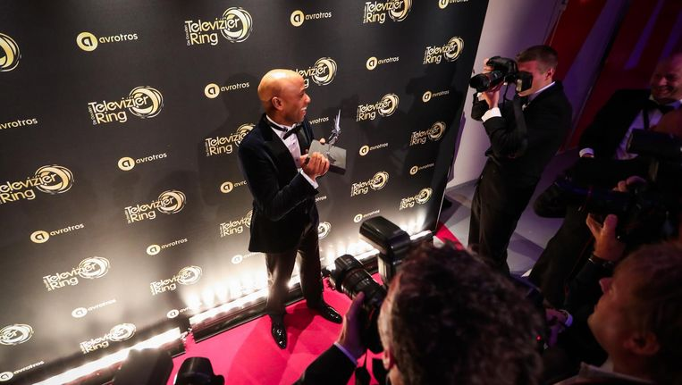 Humberto Tan, winnaar van de Zilveren Televizier-Ster Presentator. Beeld anp