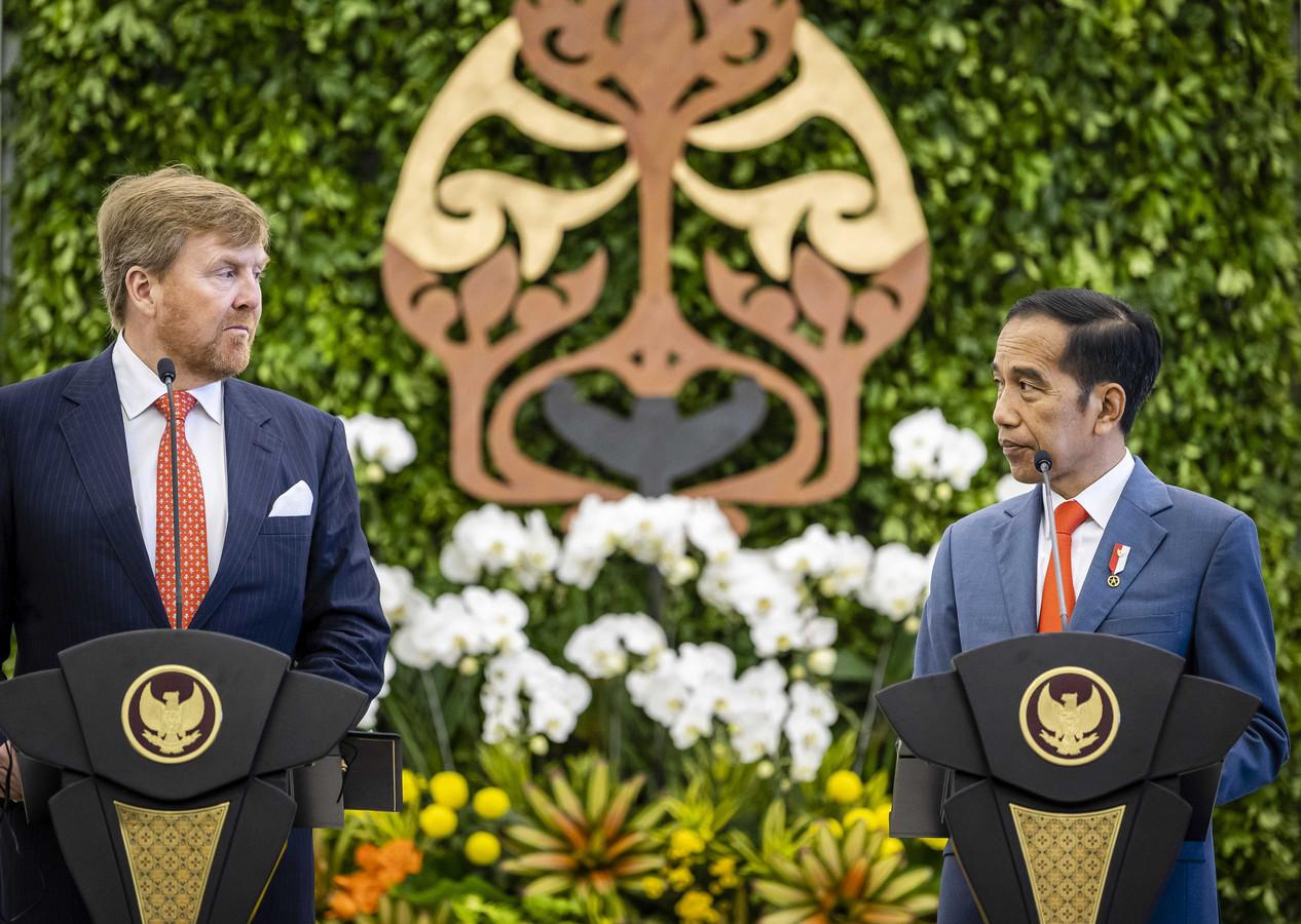 Koning Willem-Alexander en president Joko Widodo.