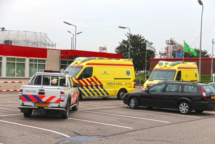Op het industrieterrein in Middelburg heeft dinsdagavond een bedrijfsongeval plaatsgevonden.