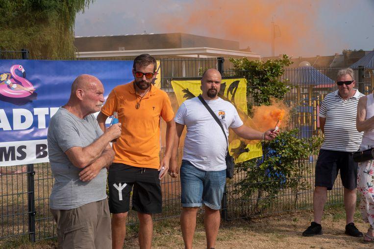 Actie Vlaams Belang aan de Warande.