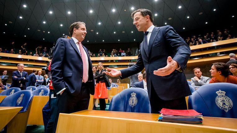 Mark Rutte en Alexander Pechtold Beeld ANP