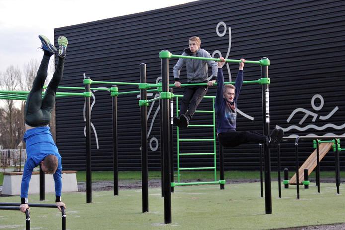 In Hardenberg is al enkele jaren een calisthenics-park, waar zowel de echte fitness-adepten als beginnende sporters terechtkunnen.