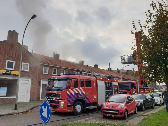 Brand in woning Waalwijk