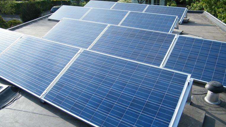 Twaalf panelen, goed voor zo'n 2800 kWh per jaar, althans dit jaar. Beeld