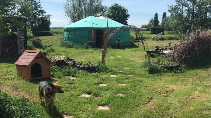 Ze woont er samen met haar hond Luna en twee dwergpapegaaien.