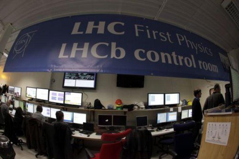 De controlekamer van het Europese onderzoeksinstituut CERN. ANP Beeld