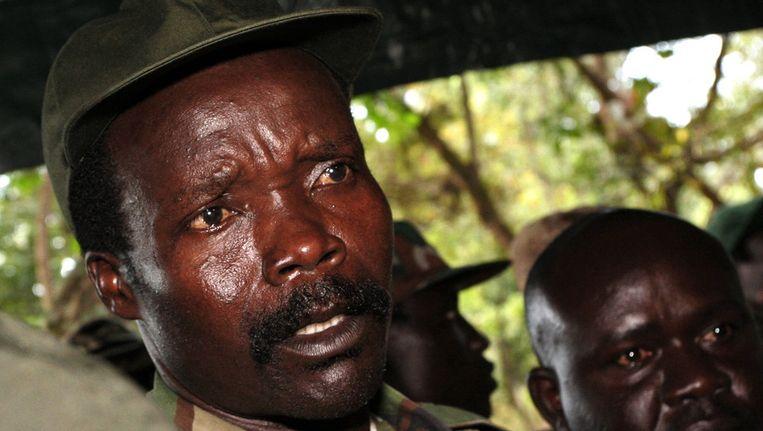 De Oegandese rebellenleider Joseph Kony. Beeld ap
