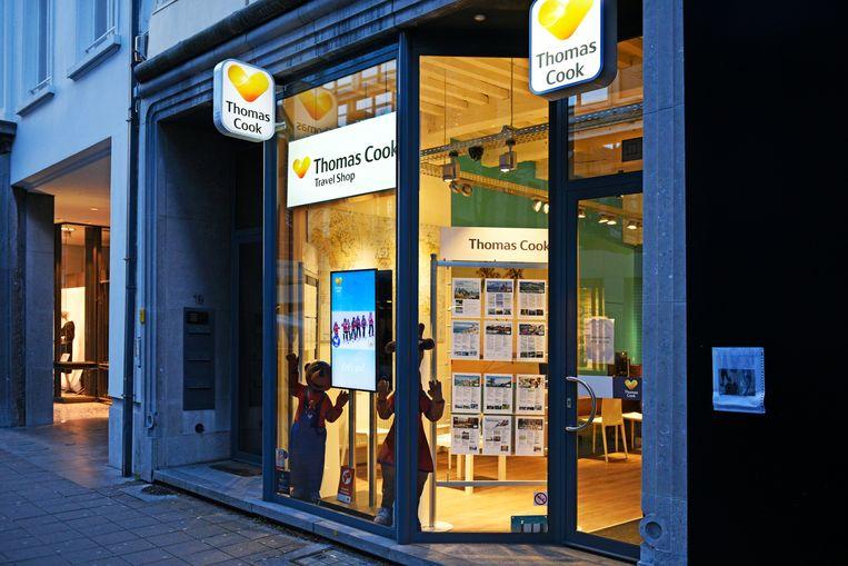 Een filiaal van Thomas Cook in Antwerpen.