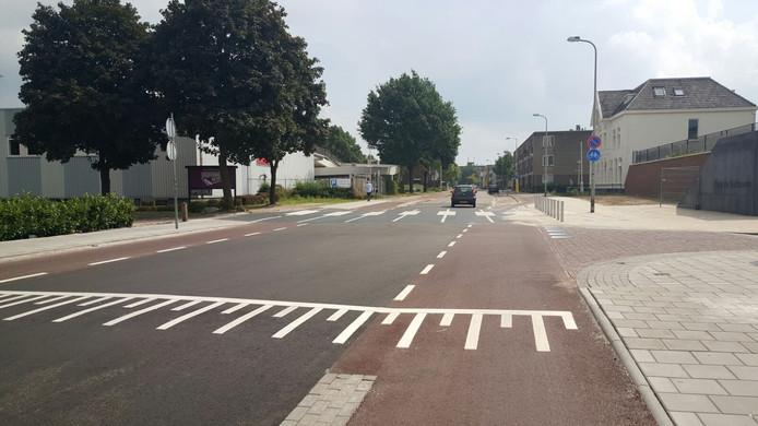 De nieuwe oversteekplaats op de Hoge Bothofstraat
