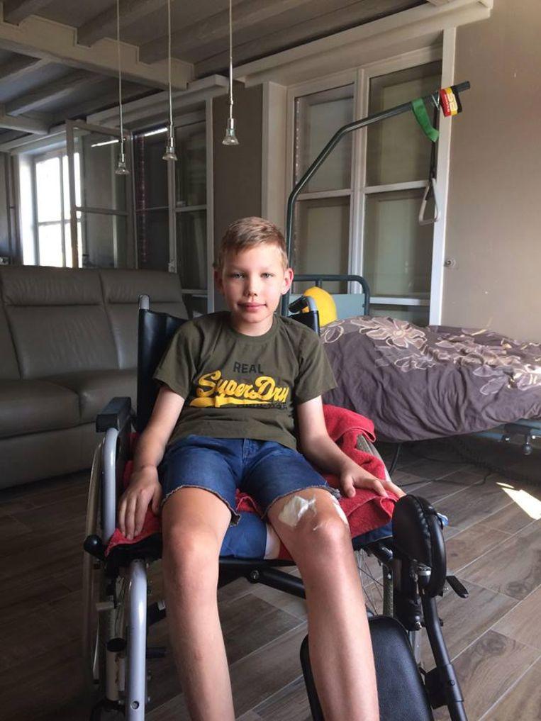 Danté Darras (11) hoort dinsdag of hij weer naar de kinesist mag.